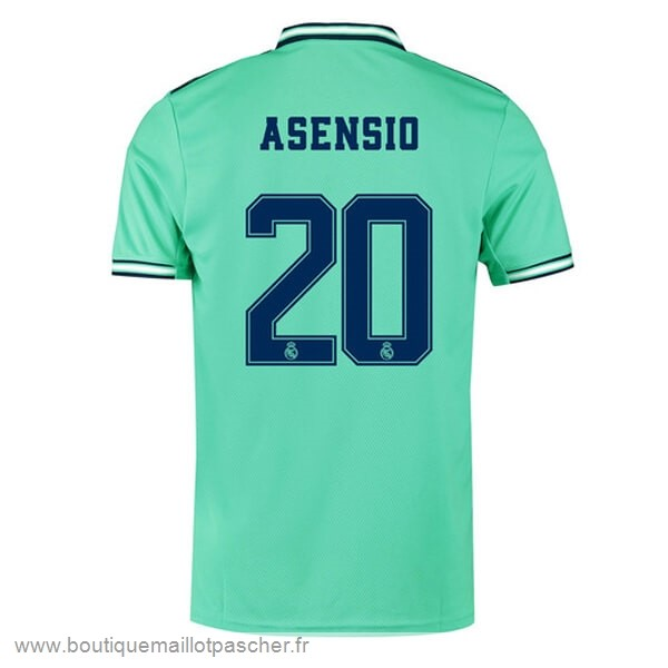 Promo NO.20 Asensio Third Maillot Real Madrid 2019 2020 Vert