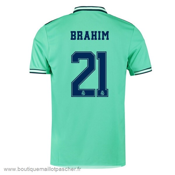 Promo NO.21 Brahim Third Maillot Real Madrid 2019 2020 Vert