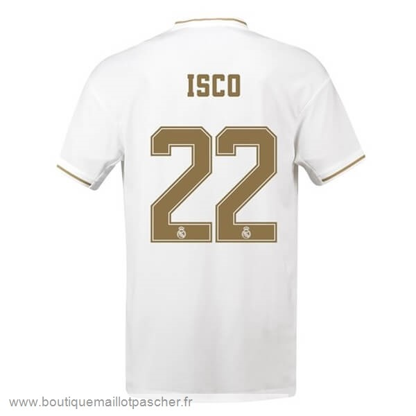 Promo NO.22 Isco Domicile Maillot Real Madrid 2019 2020 Blanc