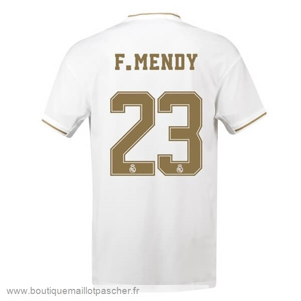 Promo NO.23 F.Mendy Domicile Maillot Real Madrid 2019 2020 Blanc
