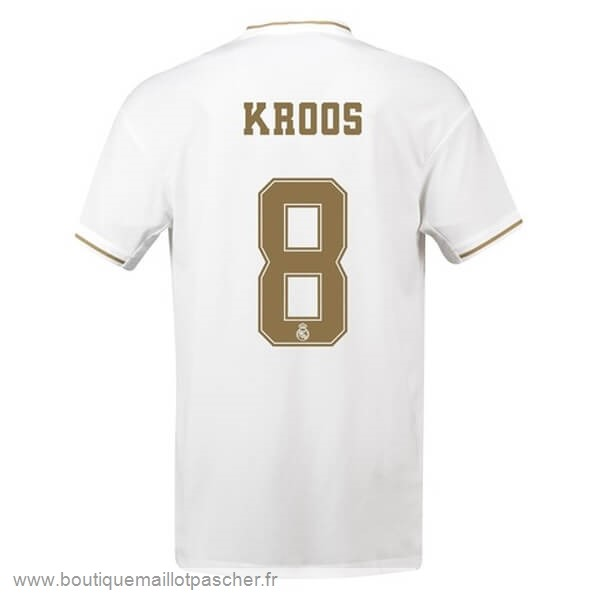 Promo NO.8 Kroos Domicile Maillot Real Madrid 2019 2020 Blanc