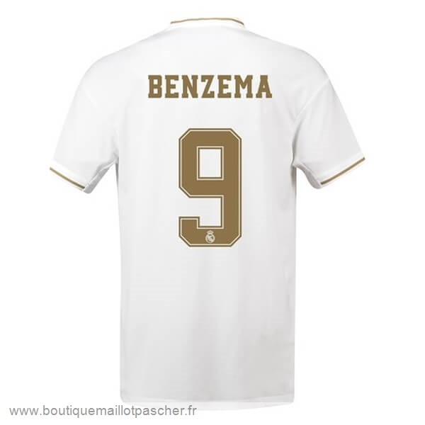 Promo NO.9 Benzema Domicile Maillot Real Madrid 2019 2020 Blanc
